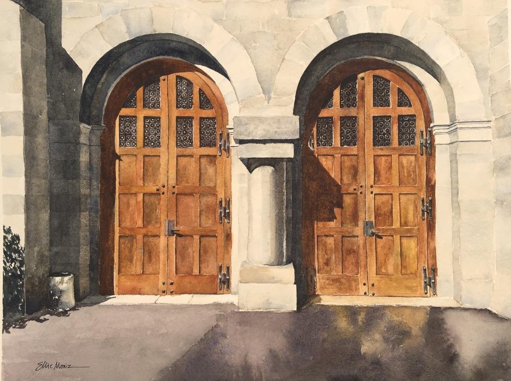 Two Wooden Doors