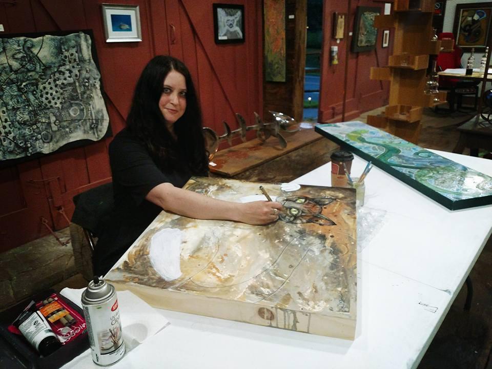 Shelley at work (Photo by Susan O'Hanlon)