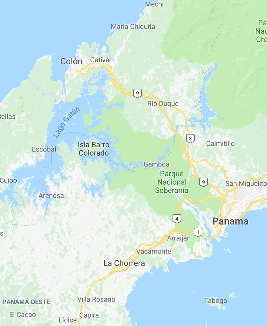 - Carte générale (image Google)