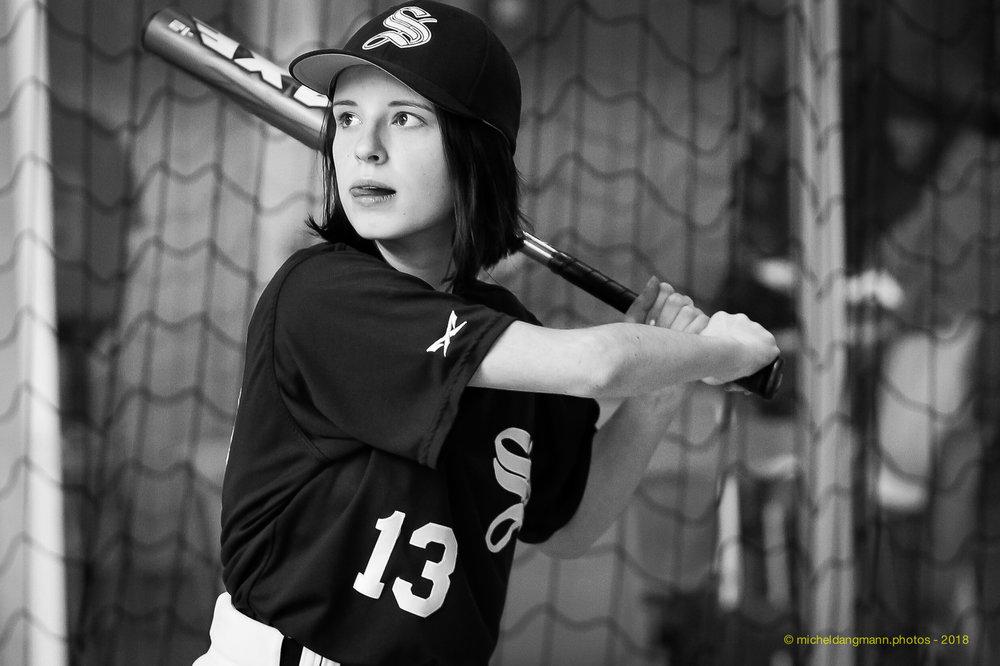 Jeune Joueuse de Baseball