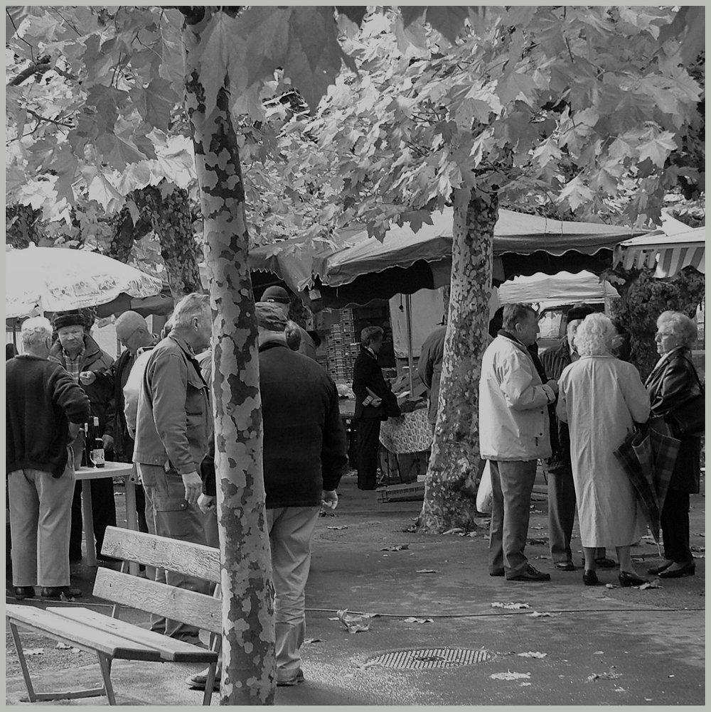 Un marché à Monthey, petit ville située sous Champéry, dans la vallée du Rhône