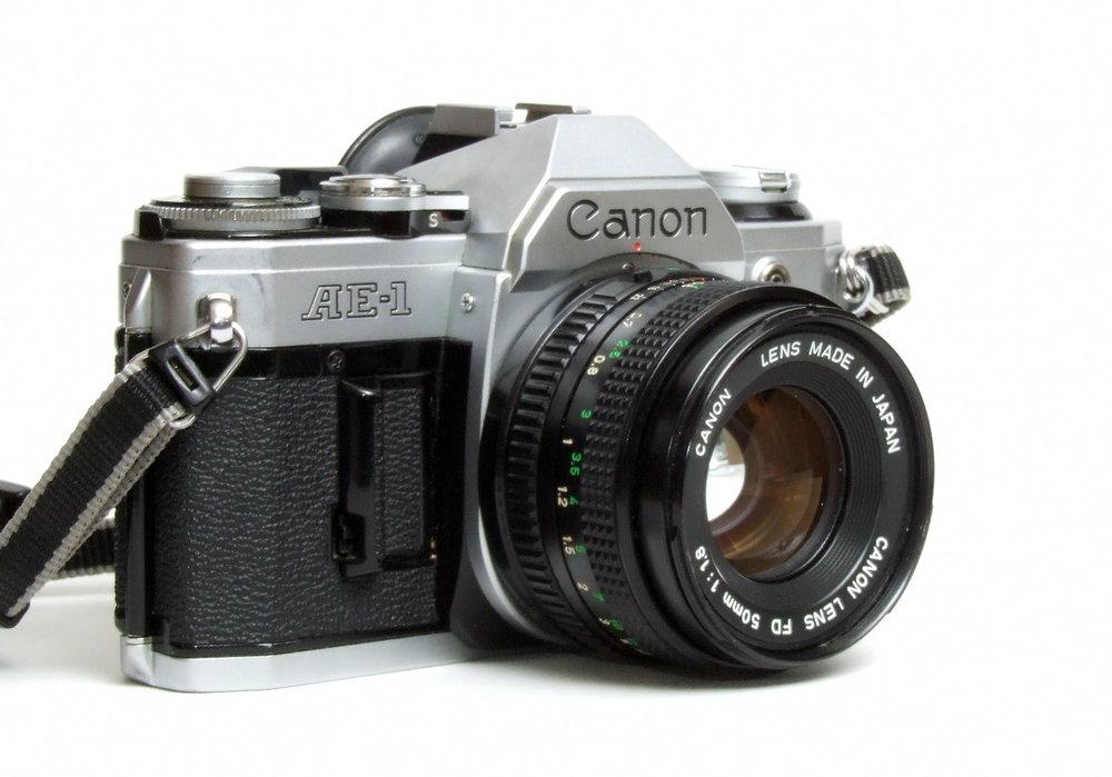 Canon AE-1 (crédit photo à l'auteur)
