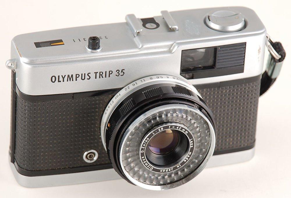 Olympus Trip 35 (crédit photo à l'auteur)