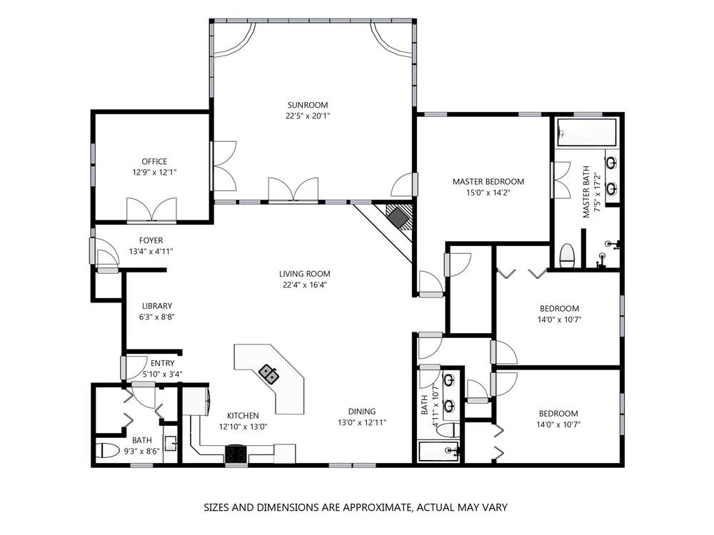 Measured floor plan