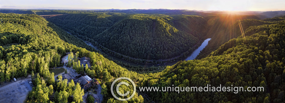 New River Gorge Panoramic - Fayetteville, WV - Adventures On The Gorge