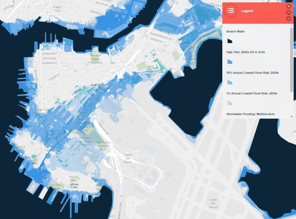 Graphic created through Climate Ready Boston Map Explorer