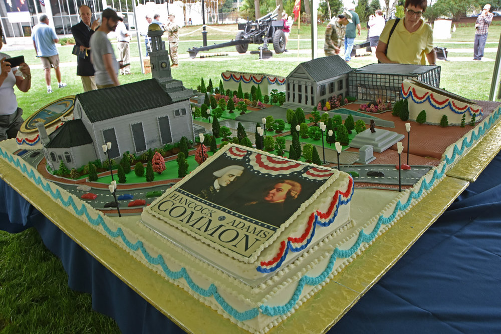 Montilio's Bakery in Brockton created a replica of the park in cake form.