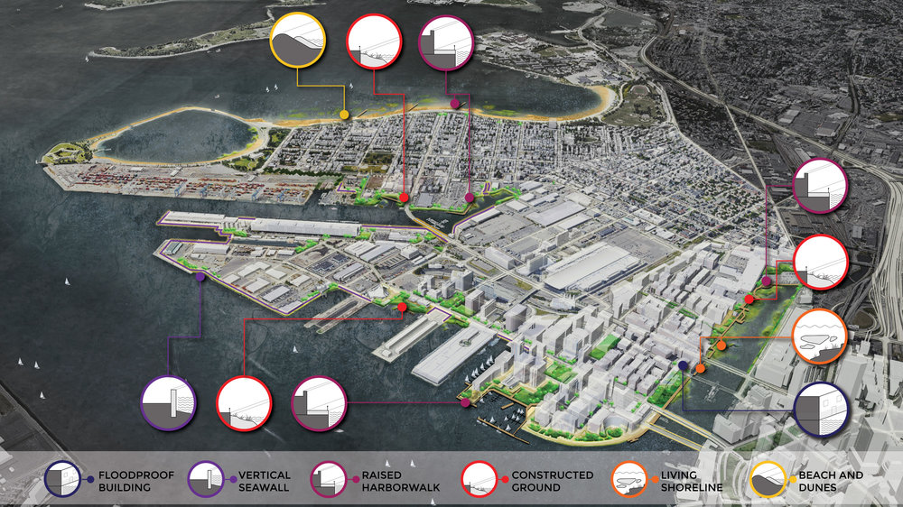 Climate Ready South Boston Flood Protection Options (Halvorson Design)