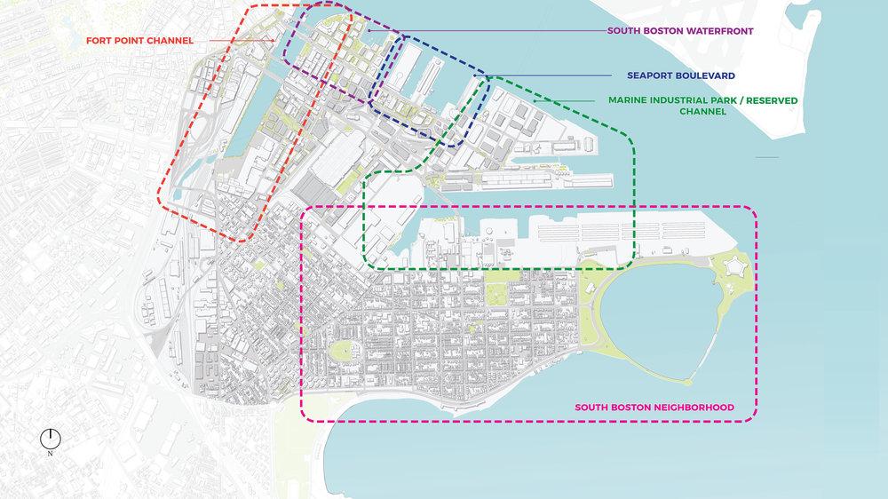 Climate Ready South Boston Study Areas (Halvorson Design)
