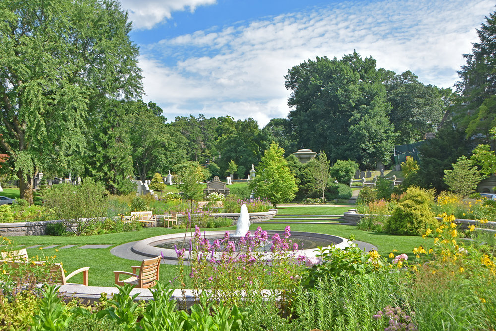 View of Asa Gray Garden in July (photo by Jo Oltman)