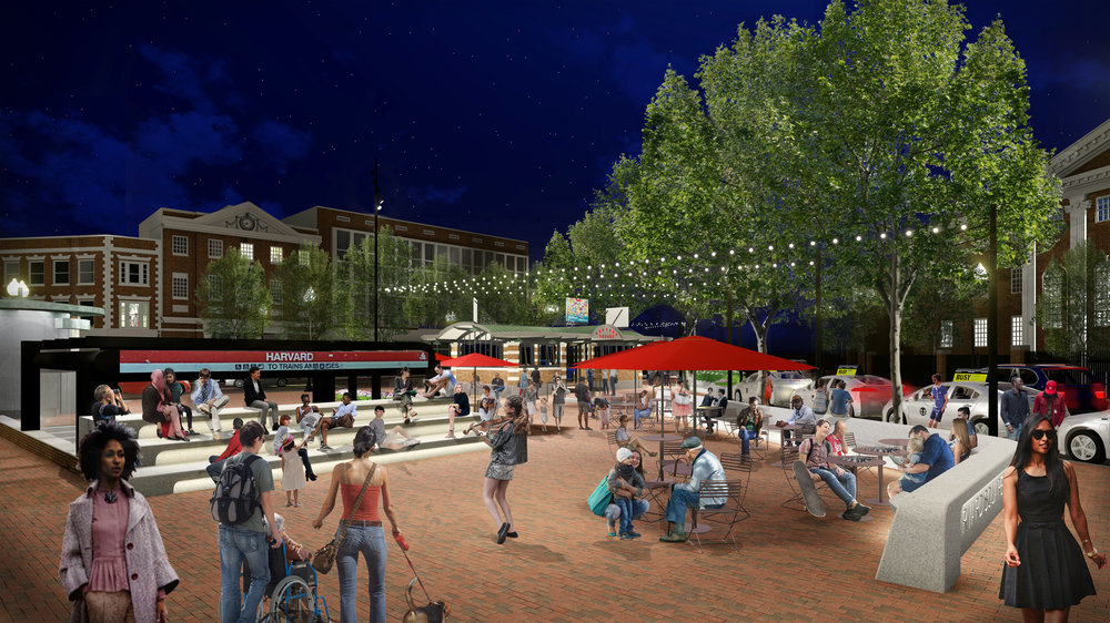 Harvard Square Plaza Rendering (Halvorson Design)