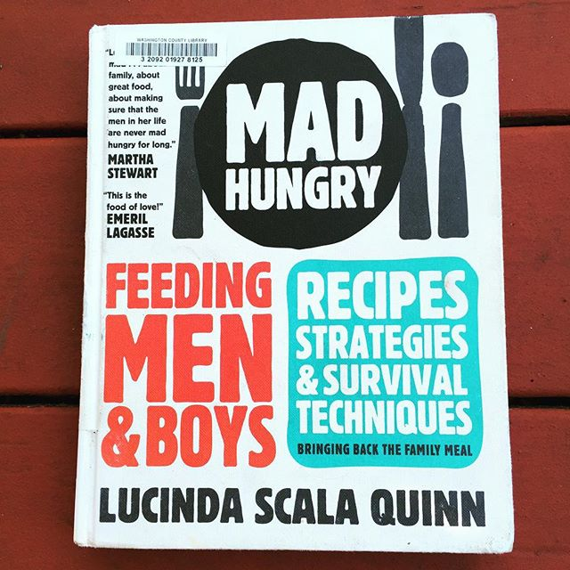 Revisiting an oldie but goodie. I sometimes check out my favorite cookbooks from the library and put them on perpetual renewal. You? (Also, my faves in here: poached eggs in tomato sauce, sour cream waffles, and Italian fries, but that is just for starters.) 👌🏼 #feedtheboys