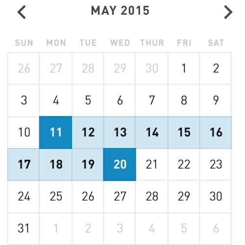 date range control