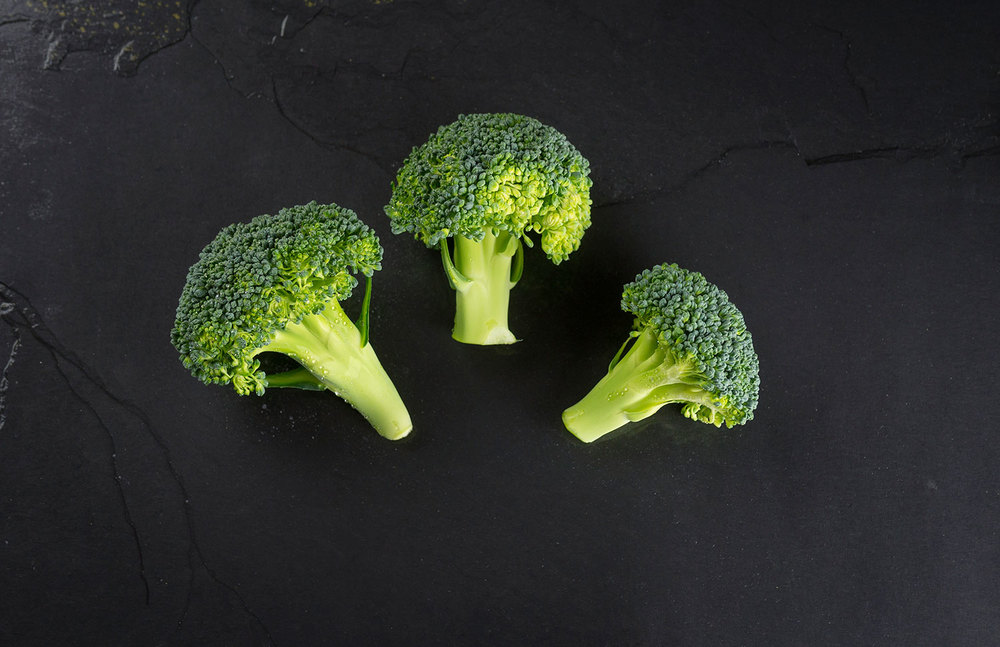 Broccoli in raw dog food