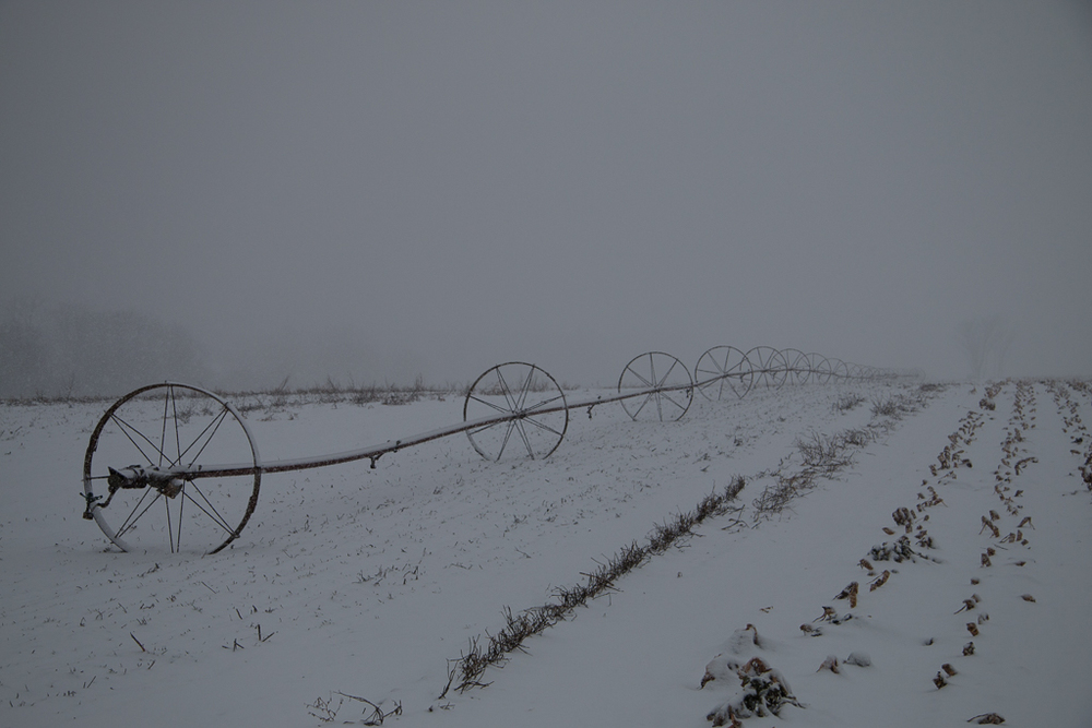 Water Wheels in Snow