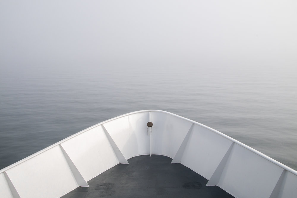 Ferry in Fog, Martha's Vineyard MA 2014