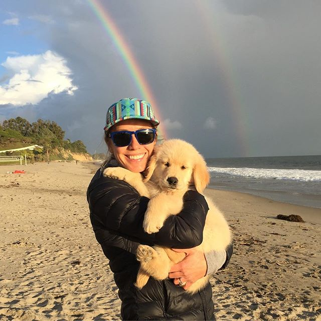 Puppies and rainbows #santabrabra