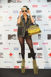 Lady Gaga at an MTV Event in Japan