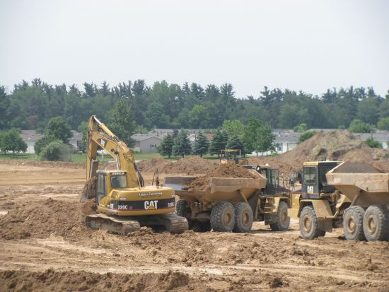 Dean's Excavating working on new Meijer in Cedar Springs