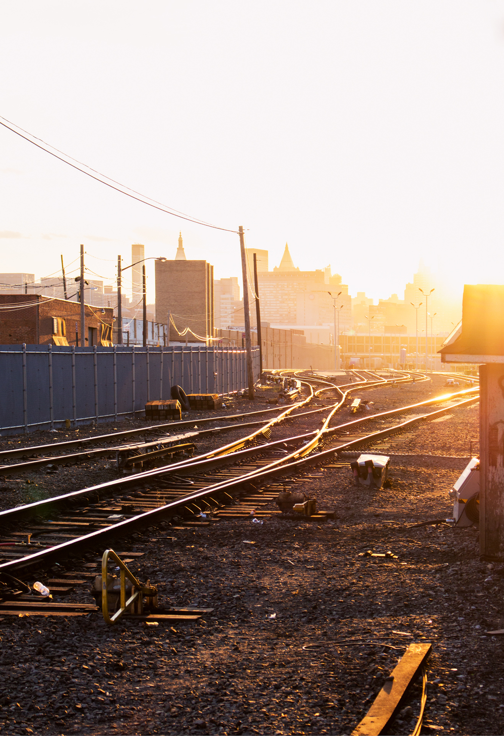 April.18.2015  | At the end of the tracks was the sun, and New York, New York.