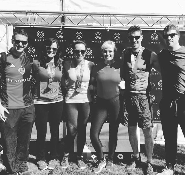 Feeling #proud - @questadventureseries completed #19 K last #saturday bring on next year!! What a great #team and we were so lucky with the weather, the #sun shone, a rarity in #Ireland !! #fitness #health #strongbody #strong - #mind