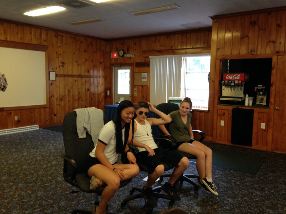 Mallory, Gabe and Madison at Regional Youth Leadership Retreat