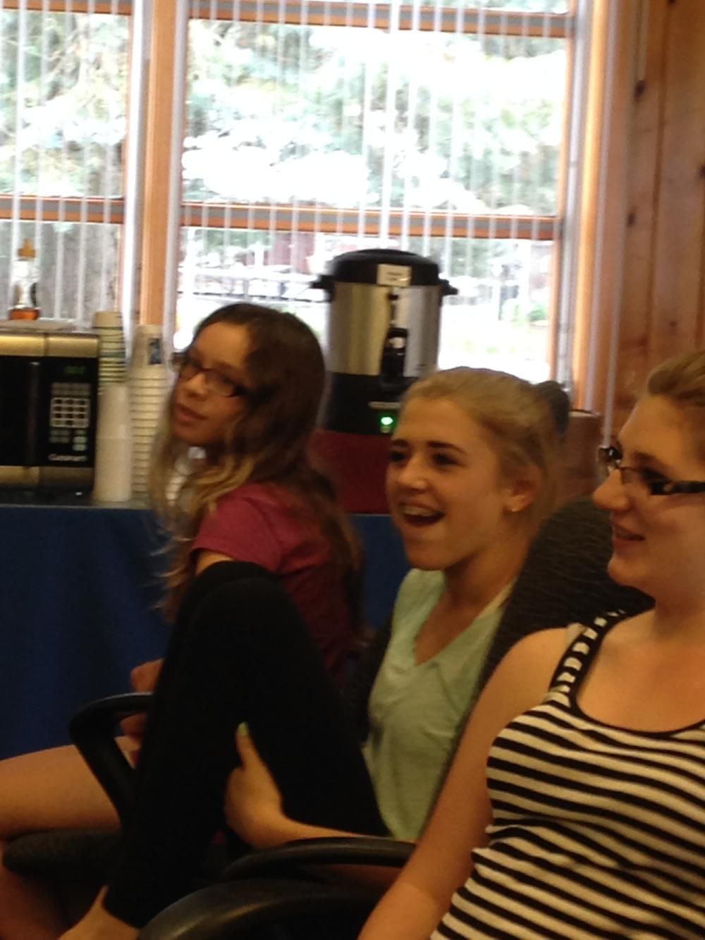 Kat, Jordyn and Lauren at Regional Youth Leadership Retreat