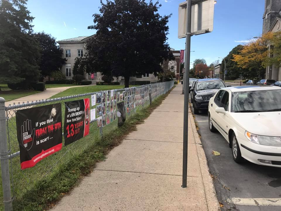Stafford Middle School and Plattsburgh High School RC Groups - 8th graders from Stafford Elementary and RC youth leaders from Plattsburgh High School in Plattsburgh, NY made a display letting their community know they've seen enough.  They set the display up on a fence at one of the busiest intersections in town.  Their message,