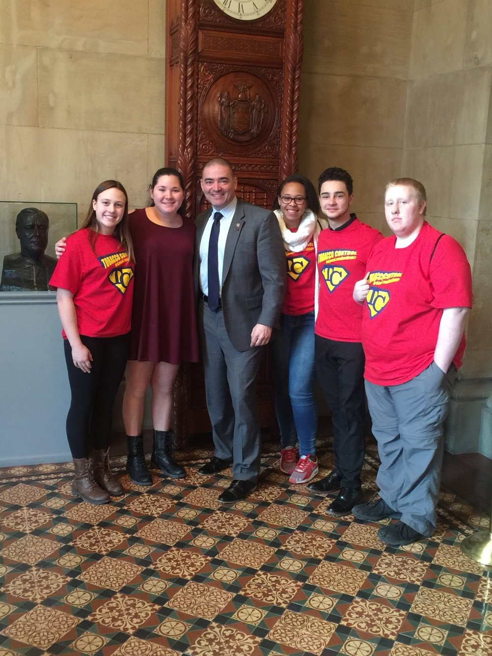 RC Broome & Tioga Counties  - Reality Check youth meet with their local NY State Senator Fred Akshar