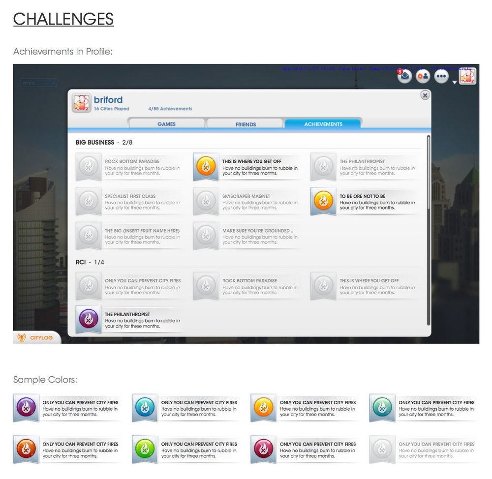UX - Achievements Wireframe
