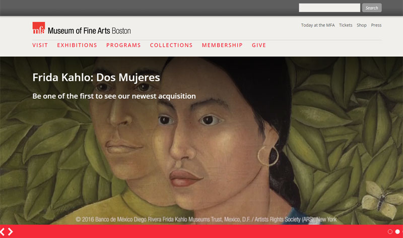 The Museum of Fine Arts website is one of more than a million sites that run on Drupal.