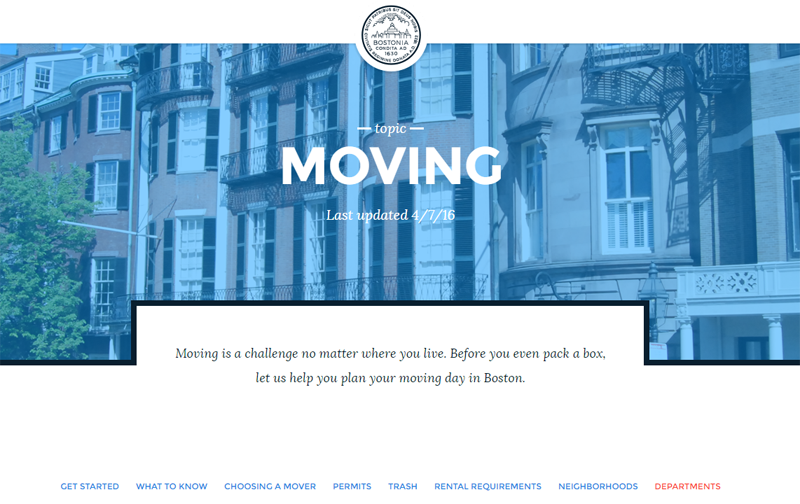 One of our new topics is about planning a move to or from Boston.
