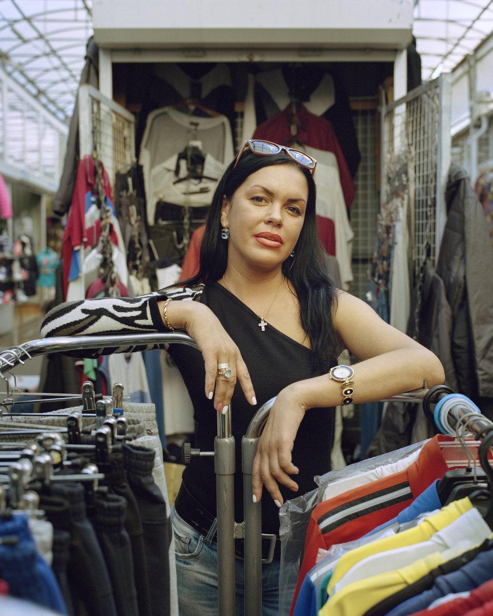 Natalija Sakovic, city market, Kaliningrad