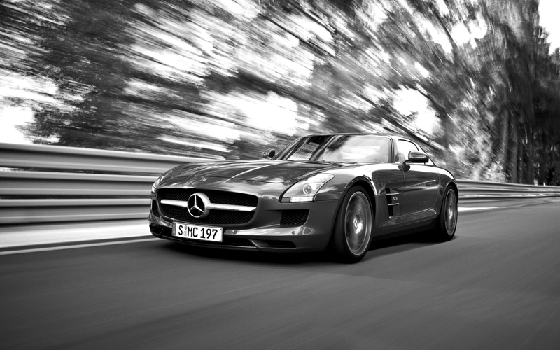 black and white cars mercedesbenz mercedesbenz sls amg ecell 2400x1500 wallpaper_www.wall321.com_68.jpg