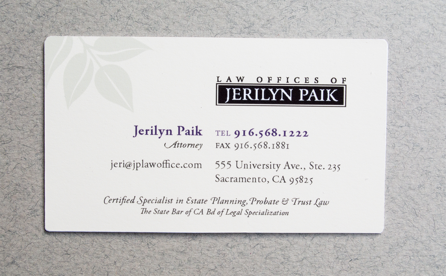 Jp law business card and thank you card blanca creative graphic business card frontg colourmoves