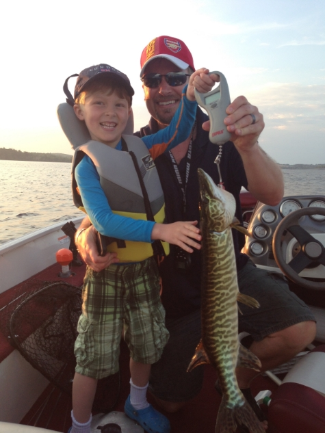 Samuel, Andrew and Mr. Muskellunge!