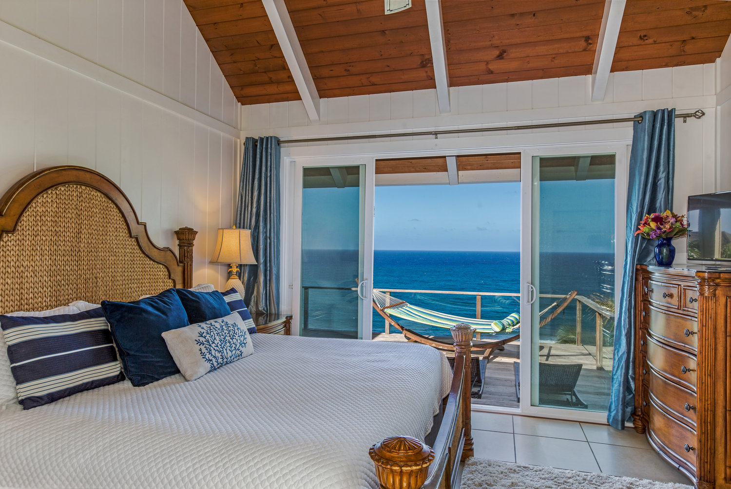 East Oceanfront King Master Bedroom With Tommy Bahama Island Estate Furniture As Featured Throughout The House