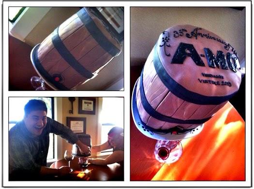 q104.5 Adam Montiel Birthday Cake. Working Wine Barrel Death By Chocolate Cake.jpg