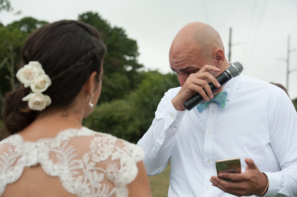 There wasn't a dry eye during the ceremony - including me!