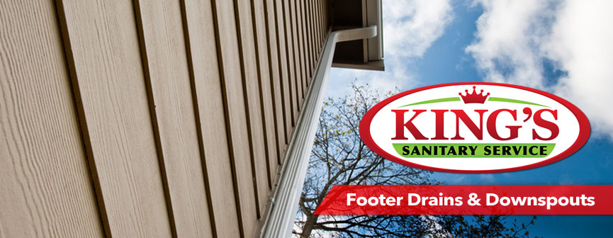 Have a clogged footer drain? Give King's Sanitary Service a call today!