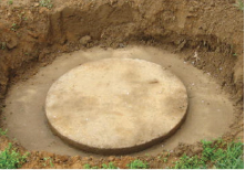 Your Septic, being dug out before risers are installed