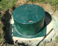 Your Septic Tank once the riser is installed