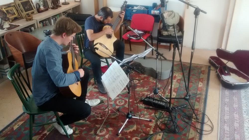 Recording at Johan Vandermaelens's studio near Brussels in may.