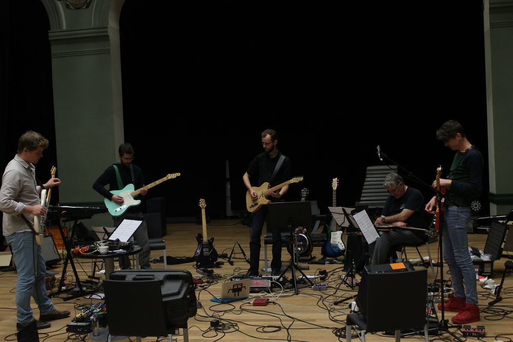 Rehearsing at Handelsbeurs in Gent.