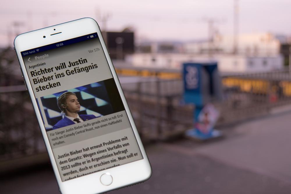 20 Minuten: Nachrichten via Mobilgerät