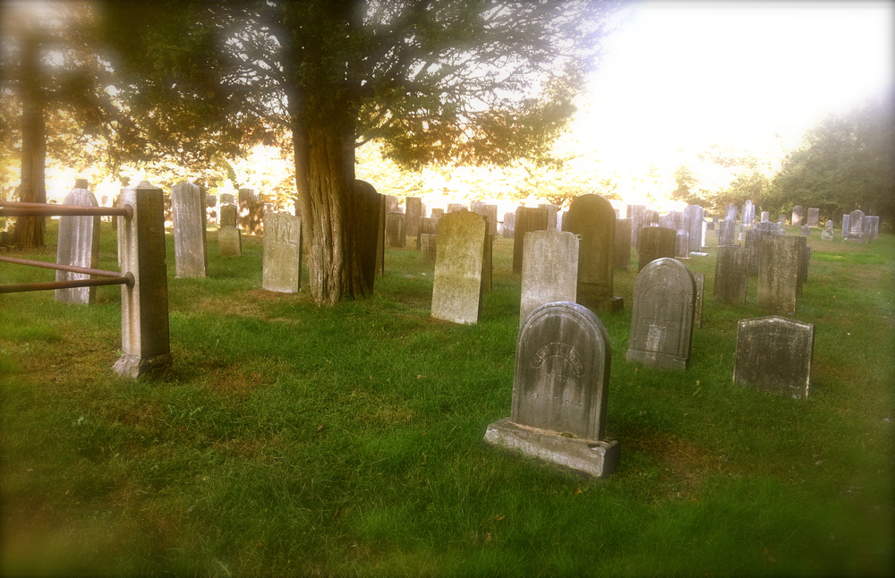 The 'old section' of the cemetery.