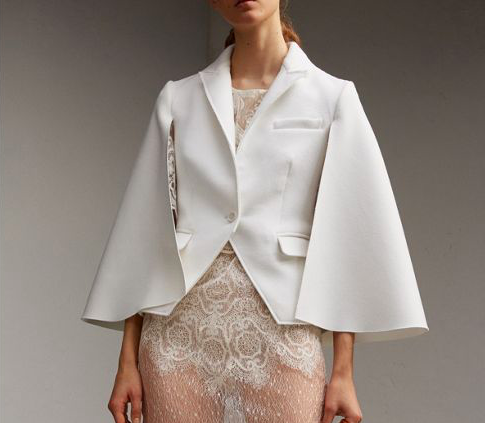 Off White Fall Cape is perfect for casual and not so casual days