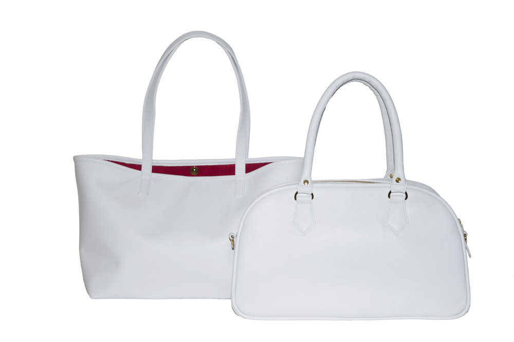 White accessories top off any outfit and help you transition into the next season with style!