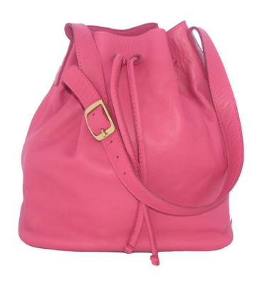 Joyce Bucket Bag- Hot Pink