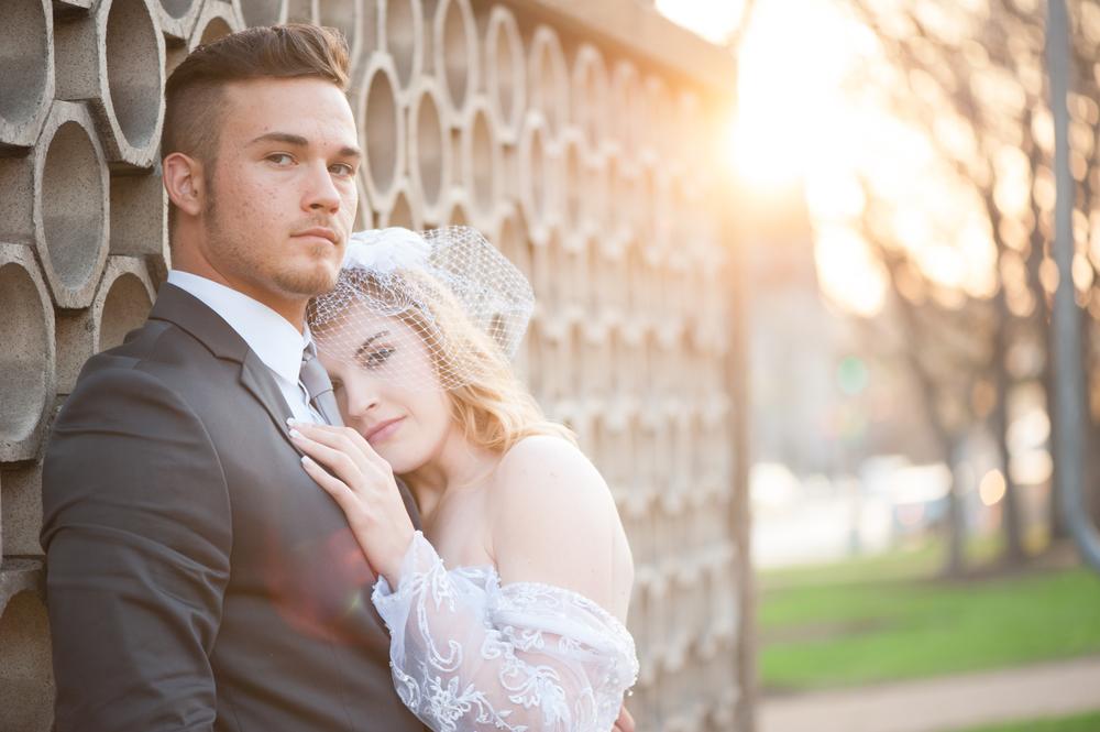 Chicago Urban Portait Small Wedding Elopement Photographer Nomee Photography